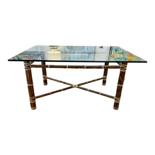 1970s McGuire Dining Table For Sale