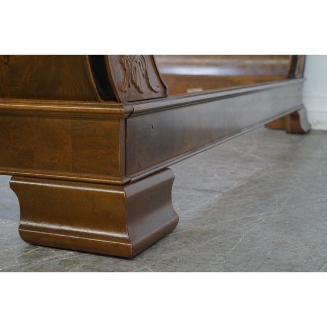 Burlwood Henredon Charles X Burl Wood Sleigh Day Bed For Sale - Image 7 of 8