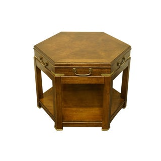 20th Century Campaign Lane Furniture Alta Vista Hexagonal End Table For Sale