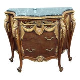 Image of 20th Century Empire Style Marble Top Commode For Sale