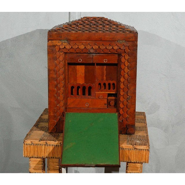 Red American Folk Art Compendium / Chest For Sale - Image 8 of 9