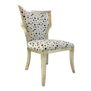 Currey & Co. Modern Black and White Garbo Side Chair For Sale