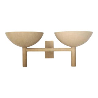 Contemporary 200 Double Sconce in Brushed Brass by Orphan Work, 2020 For Sale