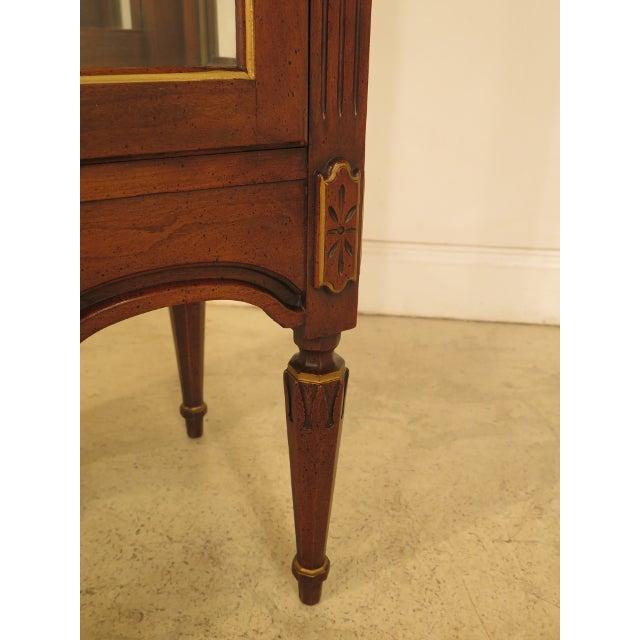 Louis XVI-Style Walnut Vitrine Curio Cabinet - Image 8 of 11