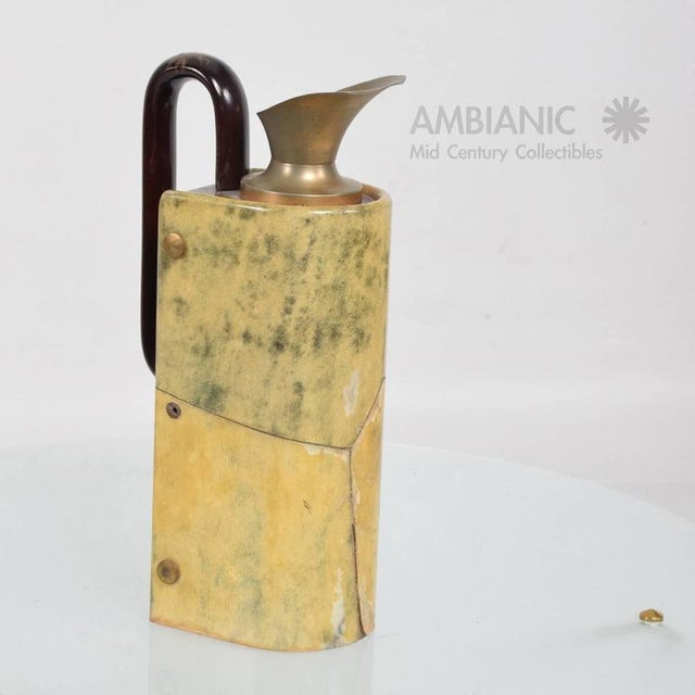 Aldo Tura Wood & Brass Pitcher For Sale In San Diego - Image 6 of 10