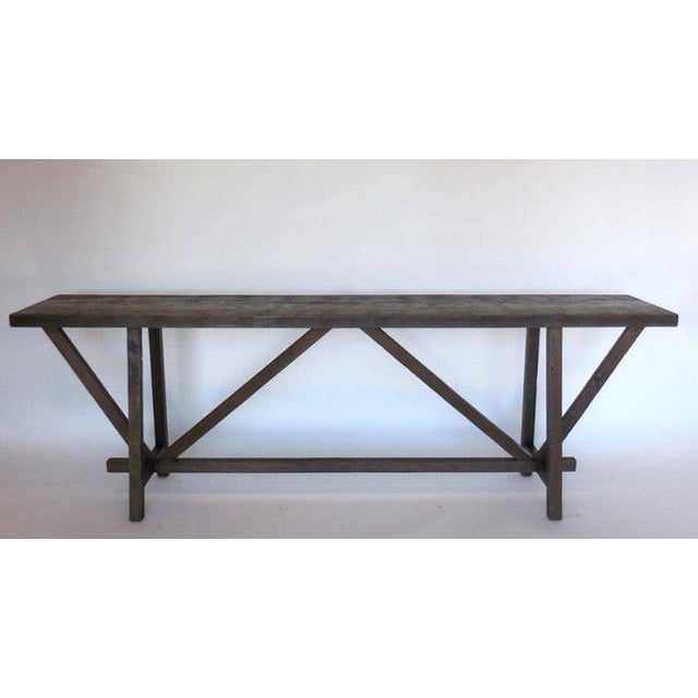 Reclaimed Wood Buttress Console For Sale - Image 9 of 9