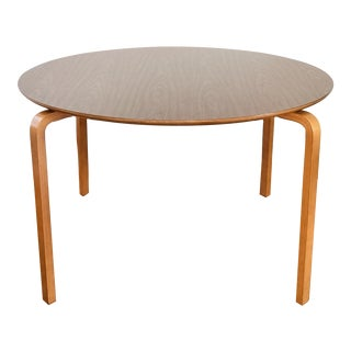 Mid Century Modern Thonet Round Bentwood Table For Sale