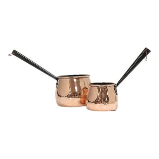19th Century English Copper Sauce Pans, Set of 2 For Sale