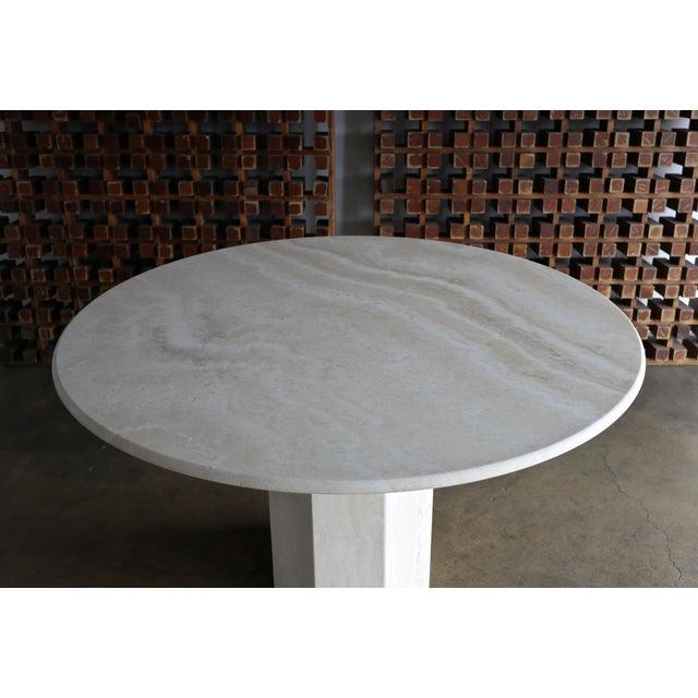 Angelo Mangiarotti Travertine Centre Table, Circa 1980 For Sale - Image 4 of 9