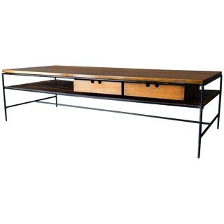 1955 Mid-Century Modern Paul McCobb Maple and Iron Coffee Table For Sale