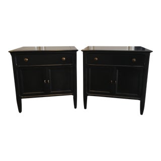 Century Furniture Black End Tables/Nightstands- a Pair