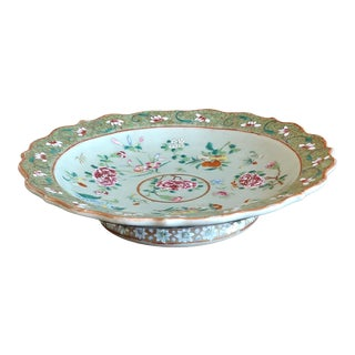 Chinese Export Famille Verte Tazza, 19th Century For Sale