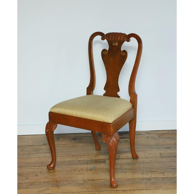 Original 1930s Burlwood Maple Side Chair For Sale - Image 11 of 11