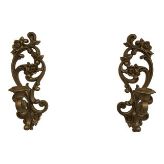 Vintage Homco Wall Sconces - a Pair For Sale