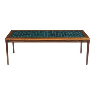Mid Century Ceramic Low Coffee Table For Sale