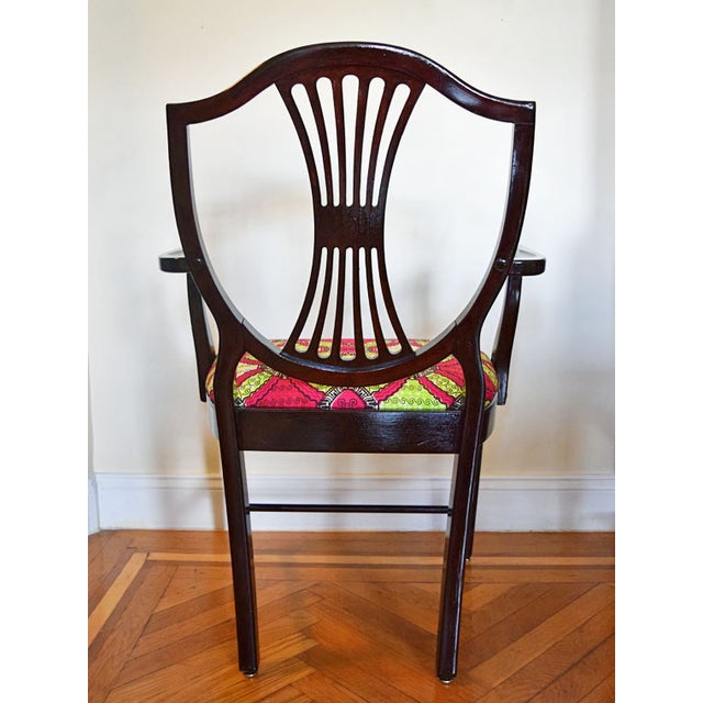 Antique-Style Shield Back Armchair - Image 5 of 7