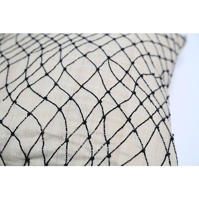 Pyar Black Beaded Pillow - Image 3 of 4