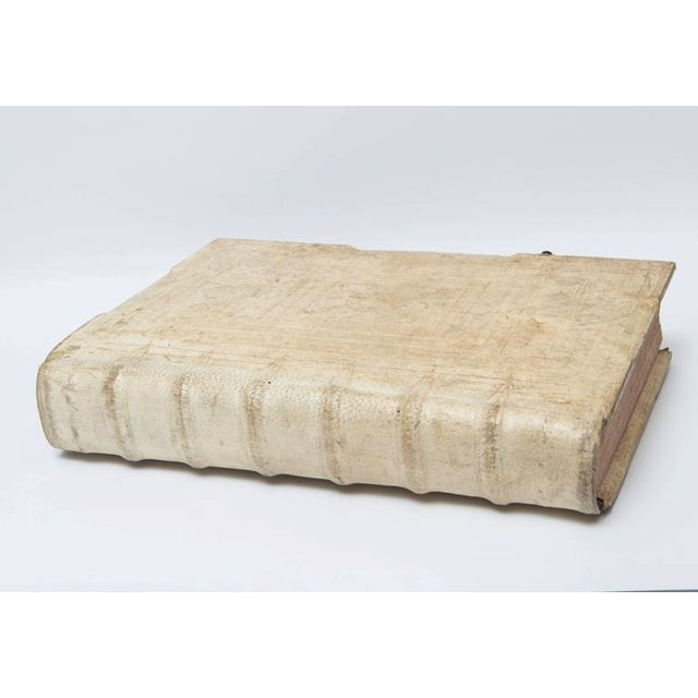 This circa 1680 very large all Vellum Music Score book with iron latches is very impressive in size and detail. Inside the...