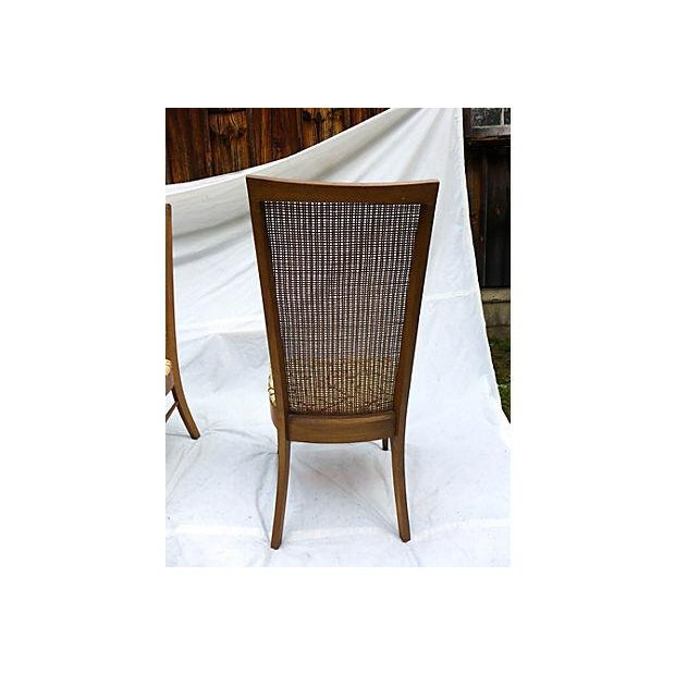Mid-Century Caned Dining Chairs - Set of 6 - Image 6 of 8
