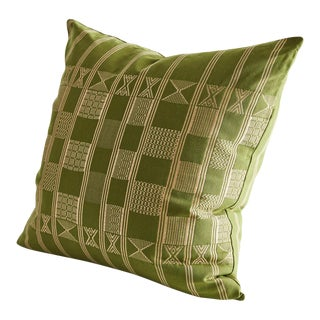 Handwoven Minna Pillow in Cape Citrus Green