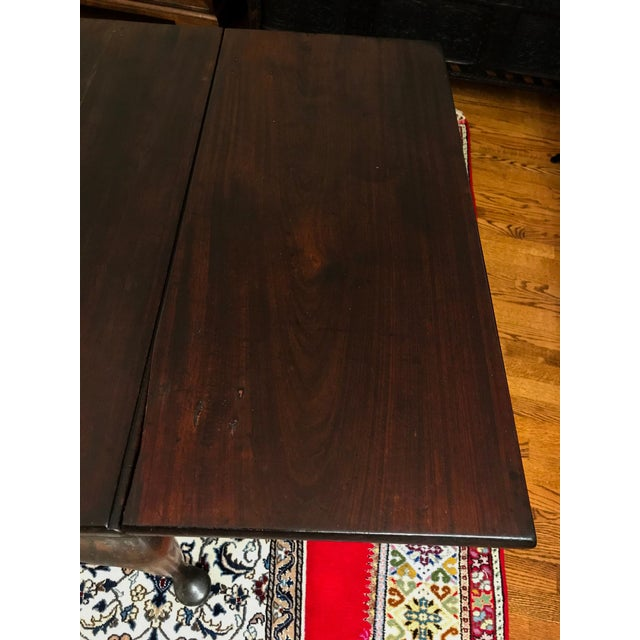 Mid 18th Century Antique Mahogany Drop-Leaf Table For Sale - Image 10 of 13