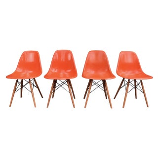 Vintage Fiberglass Charles Eames for Herman Miller Chairs - Set of 4
