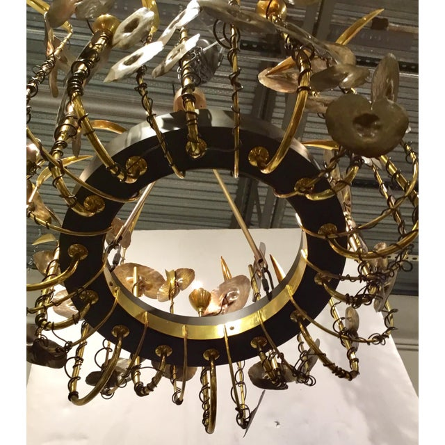 2010s Modern Brutalist Style Lily Pad Chandelier By: Studio a Home For Sale - Image 5 of 6