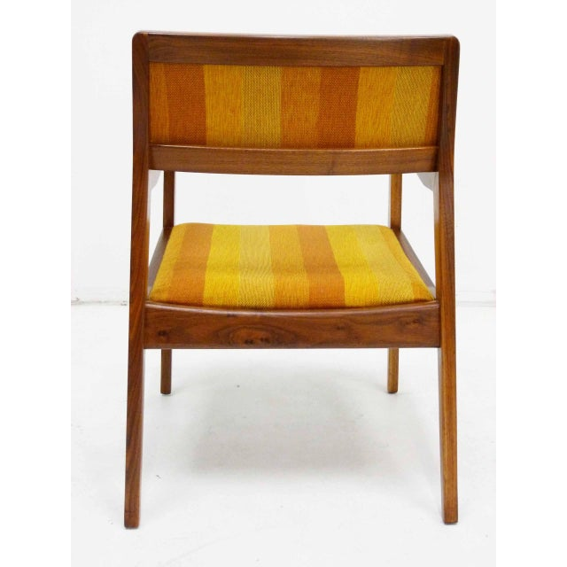 "Jens Risom Oiled Walnut ""Playboy"" Arm Chair - Image 4 of 10"