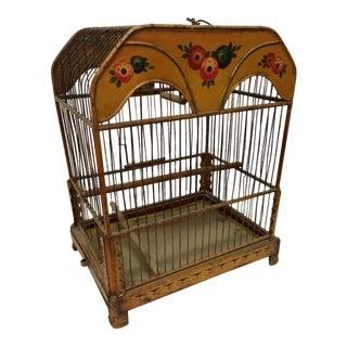European Tole Birdcage For Sale