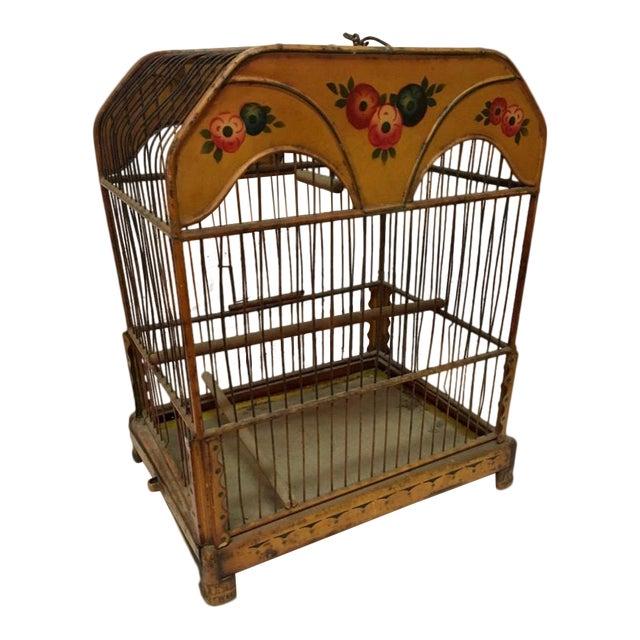 Wonderful European Tole Birdcage For Sale