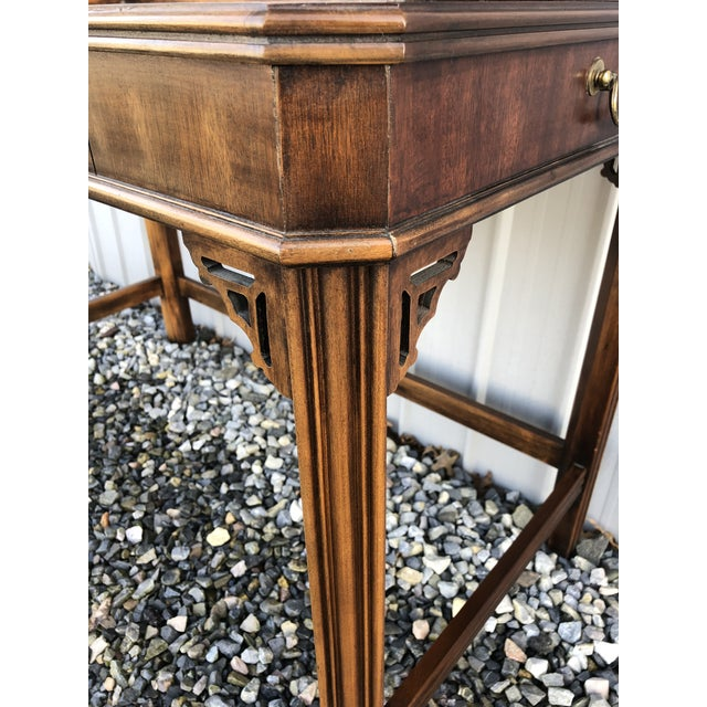 Lane Furniture 1970s Chippendale Lane Mahogany Writing Desk For Sale - Image 4 of 9