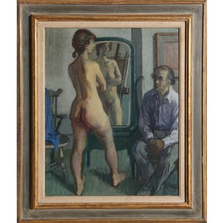 Moses Soyer, H.G. (Harry Gottlieb) with Standing Nude, ca, 1950