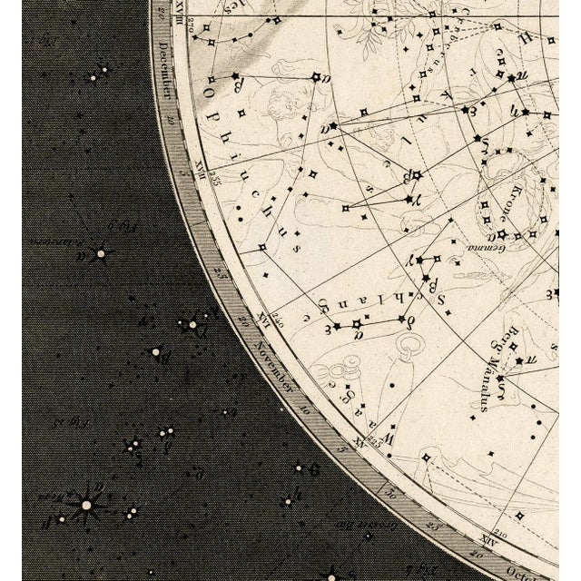 19th Century Celestial Map Framed Print For Sale In Los Angeles - Image 6 of 7