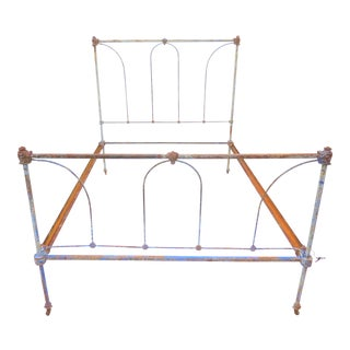 Antique Full Size Iron Bedframe For Sale