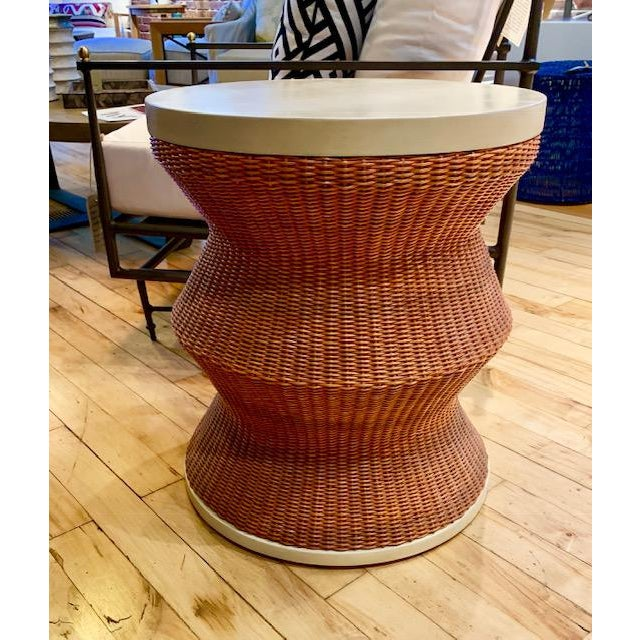 2010s Boho Chic Curate Home The Whimsy Drum Table For Sale - Image 5 of 5