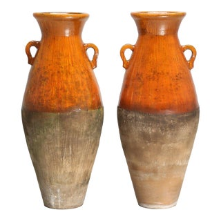 Antique Olive Oil or Wine Amphoras - a Pair For Sale