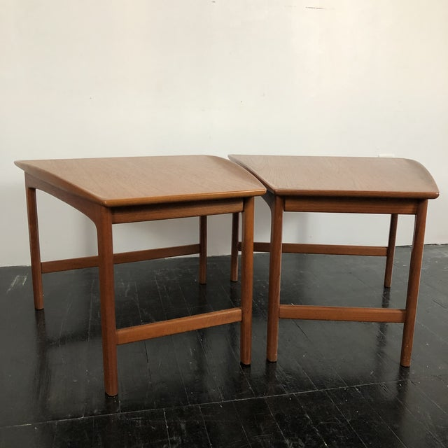 Brown 1960's Teak Frisco Designed by Folke Ohlsson Tables - a Pair For Sale - Image 8 of 13