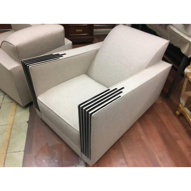 Roux Spitz Awesome Spectacular Rare Long Pair of Lounge Chairs For Sale - Image 4 of 6