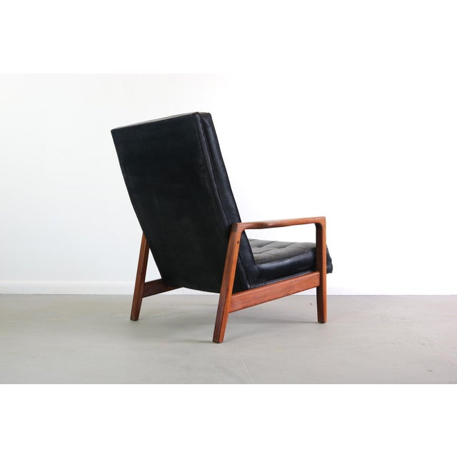 1960s Vintage Milo Baughman for James Inc High Back Lounge Chair For Sale - Image 4 of 6