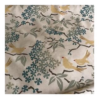 "Galbraith & Paul ""Birds"" Handblocked Linen Fabric"