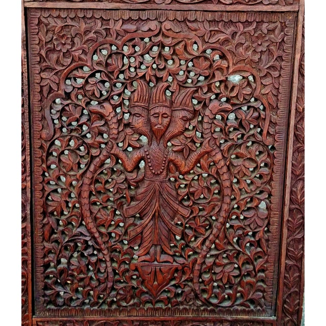 Asian 19th C Figural Carved Wood Burmese Chair - Image 6 of 10