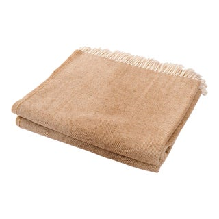 Contemporary Merino Wool Collection Sepia Throw