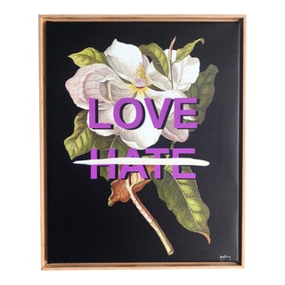 """""""Love Not Hate"""" Original Mixed Media Painting by Tony Curry For Sale"""