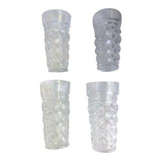 1970s Hollywood Regency Cut Crystal Shot Glasses - Set of 4 For Sale
