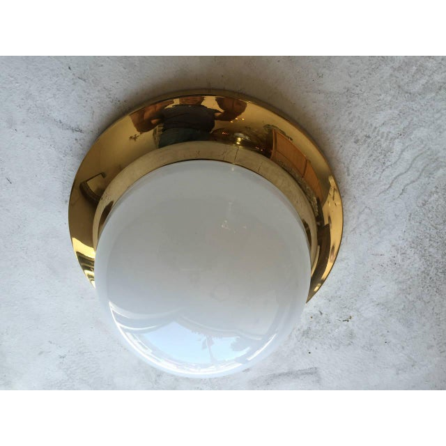 Metal Space Age Austrian Flush Light For Sale - Image 7 of 9