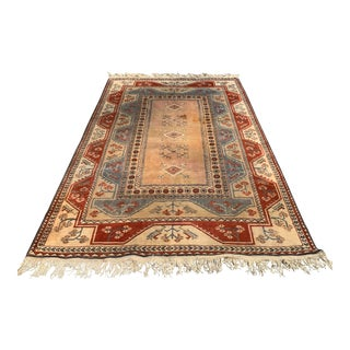 Milas Turkish Oushak Wool Rug - 6′7″ × 9′6″ For Sale