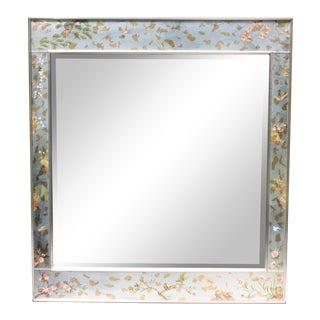 Vintage Labarge Chinoiserie Églomisé Beveled Mirror For Sale