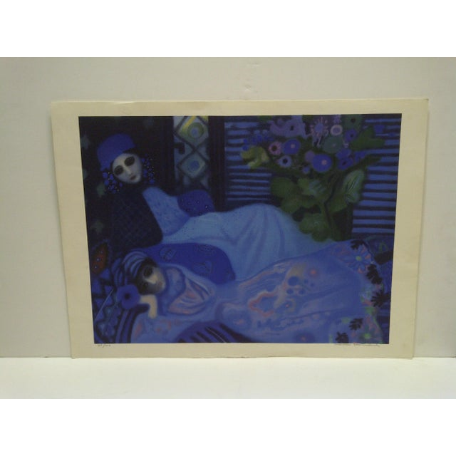 "This is a Limited Edition -- Numbered (105/200) And Signed Print -- Titled ""Ghosts At Night"" -- By Lucelle Stoisicord"