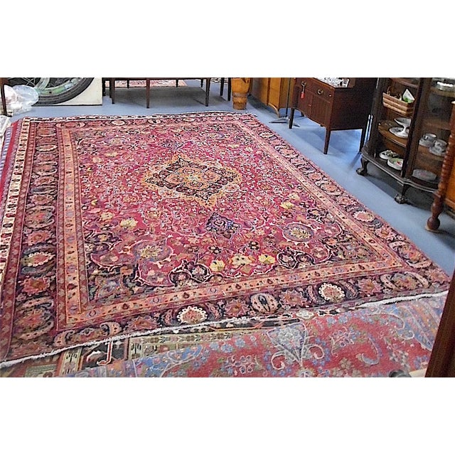 Semi Antique Persian Medallion Rug - 9' x 12' - Image 2 of 10