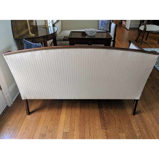Hickory Chair James River Plantation Settee Loveseat For Sale - Image 9 of 11